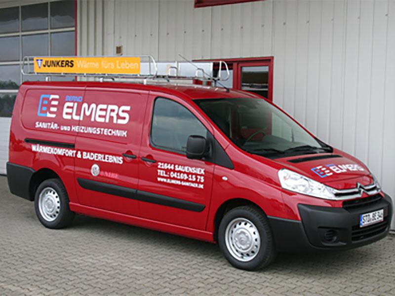 Das Kundendienstfahrzeug von elmers